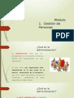 Modulo 1. Gestion del Personas.2019-1 2