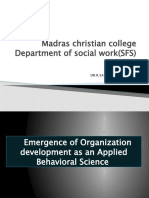 Emergence of Organization development as an applied Behavioral science