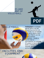 Facilities and equipments of volleyball