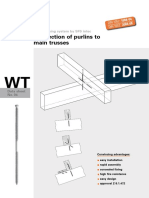 Connection Of Purlins to Main Trusses