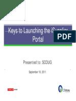 Keys-iSupplier-Portal-SCOUG-2011-Compatibility-Mode