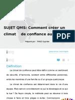 QMS PPT [Comment créer un climat de confiance au travail]-Cameroon-November, 2019