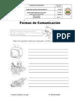 taller formas de comunicacion grado tercero
