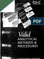 Valid Analytical Methods and Procedures - Christopher Burgess