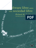 Software libre para una sociedad libre - Richard M. Stallman