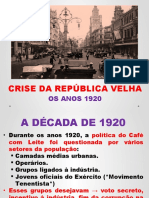 Anos 1920 Brasil