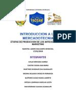 ETAPAS DE LA PRODUCCION DE LOS ANTECEDENTES DEL MARKETING