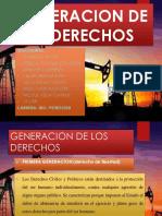 GENERACION DE LOS DERECHOS  MAT MIL EXPO