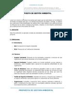 PROPUESTA DE GESTION AMBIENTAL