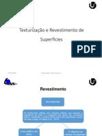 Texturização e Revestimento de Superfícies