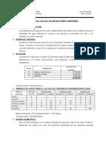 MEMORIA DE CALCULO INST. SANITARIAS EDIF. 2J ZOOTECNIA