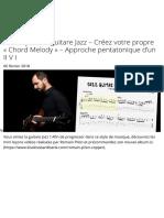 Mini leçons de guitare Jazz – Créez votre propre «Chord Melody» – Approche pentatonique d'un II V