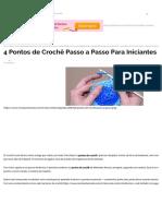 4 Pontos de Crochê Passo a Passo Para Iniciantes _ Revista Artesanato.pdf