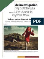 25 años de investigación cuantitativa y cualitativa sobre violencia en contra de las mujeres