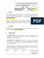 PRC-SST-010 Procedimiento para la Identificación de Peligros, Valoración de Riesgos
