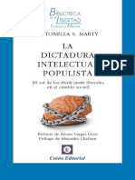 La Dictadura Intelectual Populista - Antonella Marty Imprimible