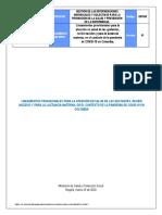 Lineamientos provisionales Covid-19 maternas y RN