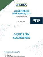 Aula 01 - Introdução Algoritmos