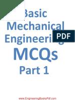 Basic Mechanical Engineering MCQs Part (1)