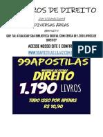 70 LIVROS DE DIREITO (2019 - 2018 - 2017)