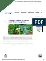 El silicio como fertilizante y bioestimulante agrícola – AEFA – Asociación Española de Fabricantes de Agronutrientes.pdf