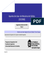 Mecánica de Solidos Apuntes de Clase cargas combinadas, flexion biaxial, deflexiones