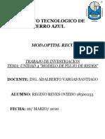 UNIDAD 4 MODELO DE FLUJO DE REDES