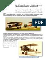 Les avions de la première guerre
