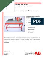 Banco Didactico para el montaje y desmontaje de rodamientos