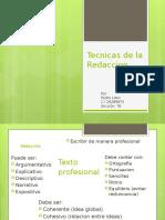 Tecnicas de la Redaccion.pptx