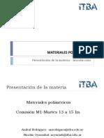PRESENTACIÓN MATERIA + CLASE 1
