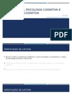 Cognitivismo, psicologia cognitiva e psicoterapia cognitiva