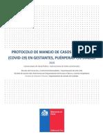 Protocolo Manejo de Casos SARS-CoV2 COVID19 en Gestante Puérperas y/o Diadas