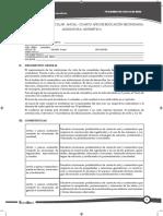 Malla Curricular Aritmética 4º Secundaria