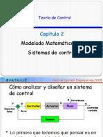 2016-1 Capítulo #2 Modelado Matemático de sistemas de Control.pptx