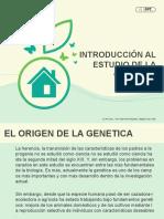 ORIGEN DE LA GENETICA