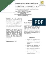Informe de potencia - Triac-Diac