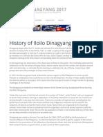 History of Iloilo Dinagyang Festival  Iloilo Dinagyang 2017