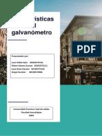 INFORME CARACTERISTICAS DEL GALVANOMETRO