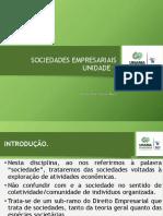 AULA 01 - INTRODUÇÃO E ASPECTOS GERAIS DAS SOCIEDADES EMPRESARIAIS
