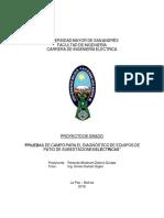PRUEBAS DE CAMPO PARA EL DIAGNÓSTICO DE EQUIPOS DE PATIO DE SUBESTACIONES ELÉCTRICAS