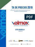 Lista de Precios (Amarilla) 2019 r8-01
