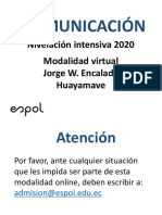 NIVELACIÓN 2020 MODALIDAD VIRTUAL