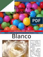 2.2 El color y sus significados.
