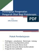 8. Pengaruh Obat Terhadap Klien Fisioterapi.pptx