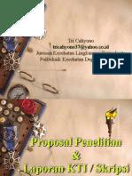 Riset Proposal & Laporan KTI & Skripsi