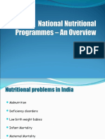 National Nutritional Programmes – An Overview