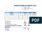(50) Calculate Air Ventilation for Transformer or D.G Room (1.1.19)