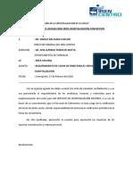 INFORME DE REQUERIMIENTO DE COCHE DE PARO