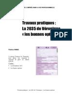 Travaux pratiques _ La 2035 de Véronique «les bonnes options» - PDF